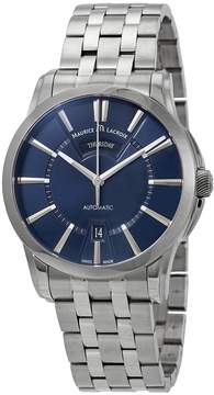 Maurice Lacroix Pontos Day Date Automatic Blue Dial Men's Watch