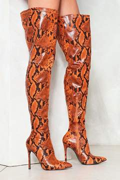Nasty Gal nastygal Snake a Stand Over-the-Knee Boot
