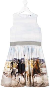 Molo galloping horses print dress