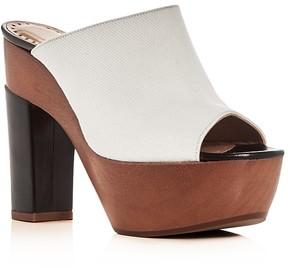 Alexa Wagner Aladin Denim High Heel Platform Slide Sandals