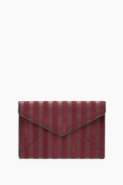 Rebecca Minkoff Stripe Leo Clutch - ONE COLOR - STYLE