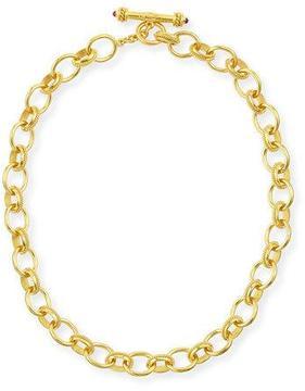 Elizabeth Locke Lampedusa 19k Gold Link Necklace, 17L