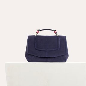 Maje Mini satchel in two-tone suede