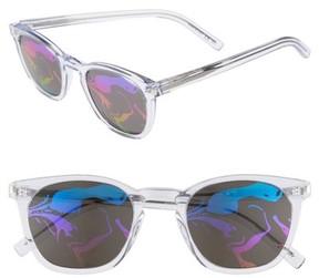 Saint Laurent Women's Sl28 49Mm Sunglasses - Crystal