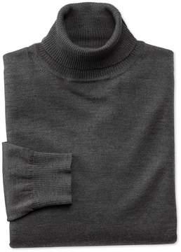 Charles Tyrwhitt Charcoal Merino Wool Roll Neck Sweater Size Medium