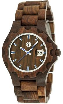 Earth Gila Collection ETHEW3303 Unisex Wood Watch with Wood Bracelet-Style Band