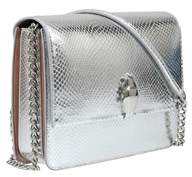 Class Roberto Cavalli Silver Woman Leather Bag.