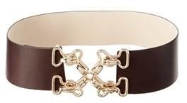 J.Mclaughlin Women's Heraldic Leather Belt.