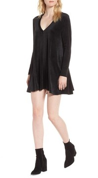 De Lacy Women's Delacy Hannah Velvet Shift Dress