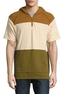 Reason Mineola Striped Short Sleeve Hoodie