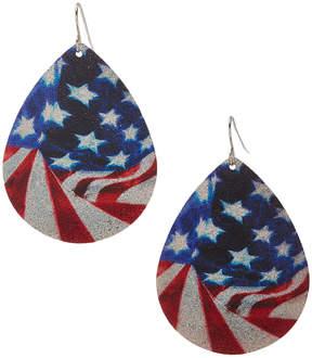 Carole Abstract Stars & Stripes Oversize Teardrop Earrings