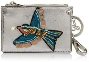 Sam Edelman Embroidered Bird Credit Card Wallet