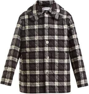 Balenciaga Checked quilted cotton-flannel jacket