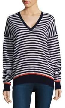 Equipment Lucinda Striped V-Neck Sweater