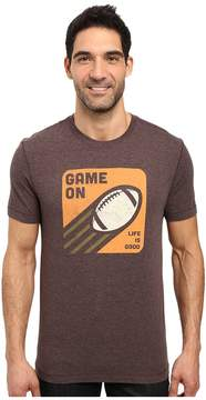 Life is Good Game On Football Cool Tee Men's T Shirt