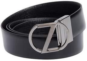 Ermenegildo Zegna Leather Belt Bbox 14 Vit Ntm