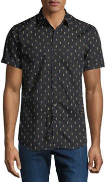 Sovereign Code Men's Prank Pineapple Short-Sleeve Sport Shirt