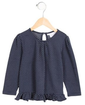 Rachel Riley Girls' Ruffle-Trimmed Printed Top