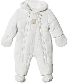 Mayoral Cream Bear Hooded Snowsuit with Detachable Mittens and Booties