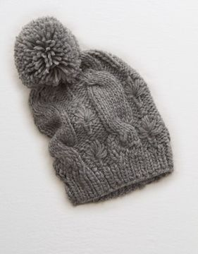 aerie Pom-tastic Cable Beanie
