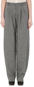 Chloé Women's Herringbone Wool-Blend Pleated Trousers