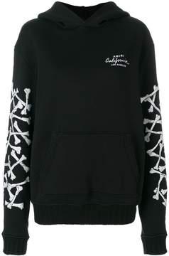 Amiri bones print sleeves hoodie