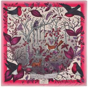 Aspinal of London The Dockery Robin Silk Scarf