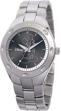 Disney Fortaleza Mickey Mouse Mens Silver-Tone Watch