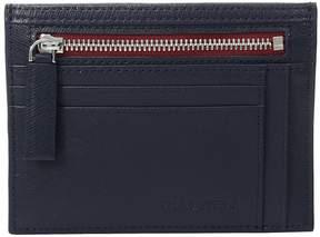 Bugatchi Saffiano Two-Tone Zip Card Case