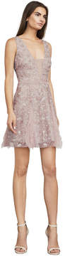 BCBGMAXAZRIA Phoebe Embroidered Tulle Dress