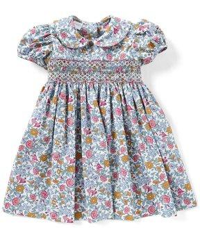Edgehill Collection Little Girls 2T-4T Floral Ruffle-Sleeve Dress