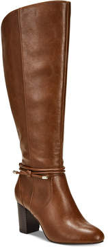Alfani Step 'N Flex Giliann Wide-Calf Dress Boots, Created for Macy's Women's Shoes