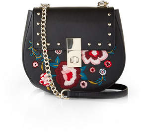 Express Floral Embroidered Cross Body Bag