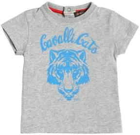 Roberto Cavalli Printed Cotton Jersey T-Shirt