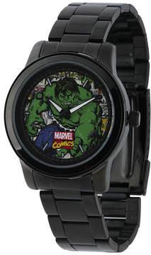 Marvel Hulk Mens Black Stainless Steel Watch