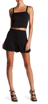 Flying Tomato Solid Pleat Shorts