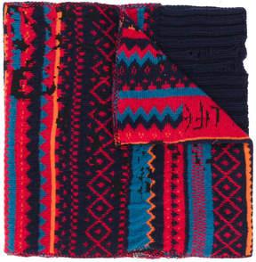Diesel intarsia knit scarf