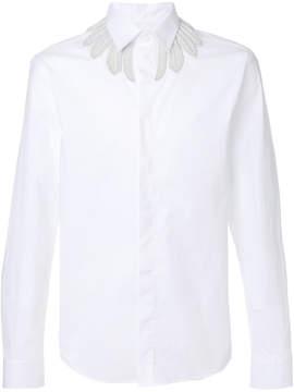 Frankie Morello embroidered neckline shirt