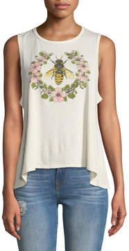 Chaser Garden Bee Graphic Muscle Tank Top