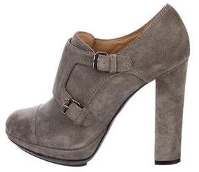 Lanvin Suede Round-Toe Booties