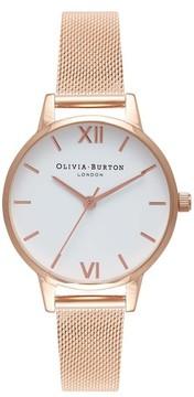 Olivia Burton Women's Mesh Strap Watch, 30Mm