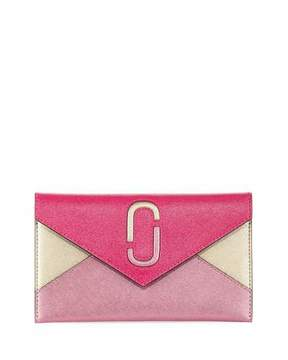 Marc Jacobs Liaise Metallic Envelope Clutch Bag - PINK MULTI - STYLE