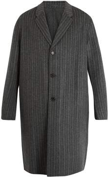 Acne Studios Chad pinstriped wool-cashmere blend coat