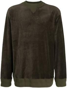 Miharayasuhiro long sleeved velvet sweater