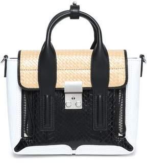 3.1 Phillip Lim Pashli Elaphe Leather And Woven Shoulder Bag
