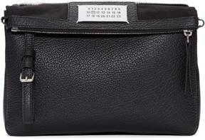 Maison Margiela Black Leather Double Bag