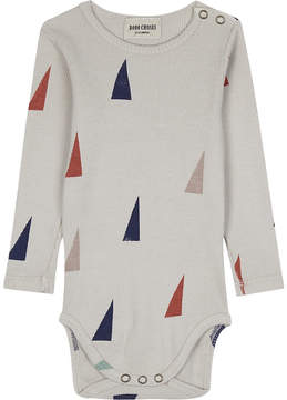 Bobo Choses Triangle printed cotton babygrow 3-24 months