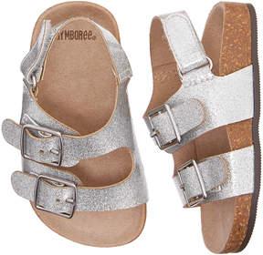 Gymboree Silver Glitter Sandal - Girls