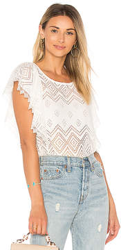 Ella Moss Pleated Lace Top
