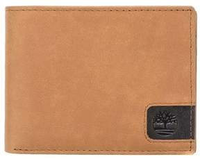 Timberland Men's Cloudy Leather Passcase Wallet